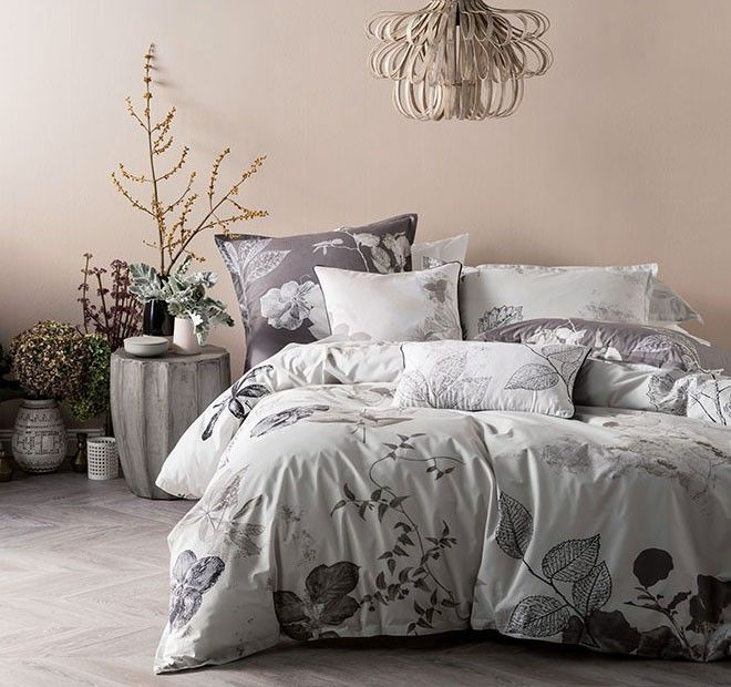 Ari Quilt Cover Set Range Chalk | Manchester Warehouse
