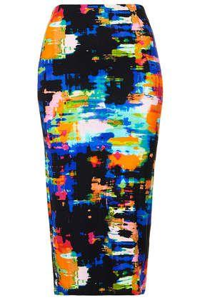Tropical Print Tube Skirt - Multi