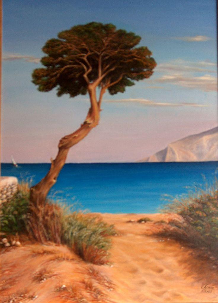 "oil on canvas 2003, 50x70cm, A' price ""Parnassos"" 2004, exibitions: Festival Diarroes, Metro Syntagma 2007, Technopolis, Gazi 2008"