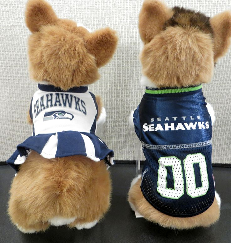 bda98cc3a21 ... Dog Jersey Seahawks cheerleader outfit and Jersey at Merry Tails ...