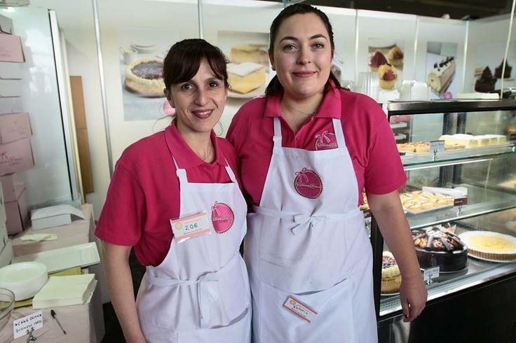 Zoe and Victoria at Melbourne Cake Expo 2013
