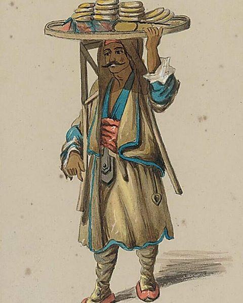 Bir Osmanlı Simitçisi, 19. Yüzyıl #ottomanempire #osmanli #history #tarih #constantinople #istanbul #konstantinopel #simit #simitci