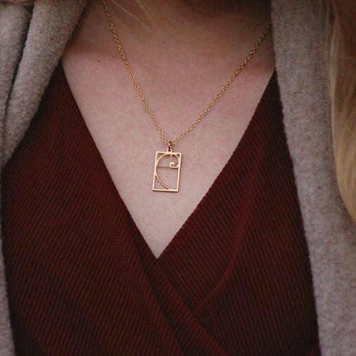 Fibonacci Necklace - math jewelry, great gift for a teacher