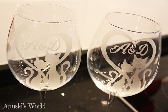 Copas personalizadas con iniciales para boda - Anuski´s World