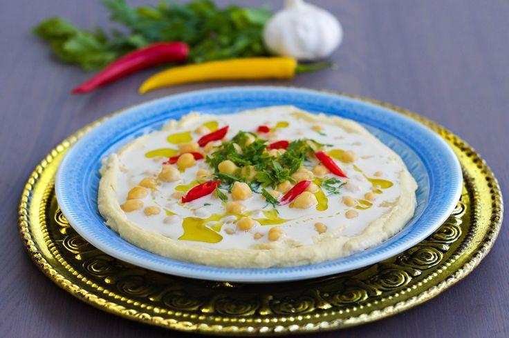 Msabaha- Hummus med hela kikärtor