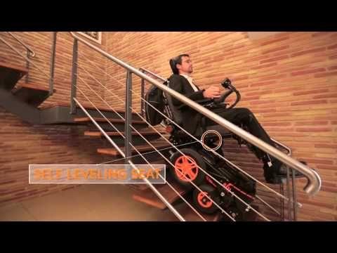 Sedia a rotelle elettrica con montascale a cingoli TopChair-S » Scale per Disabili