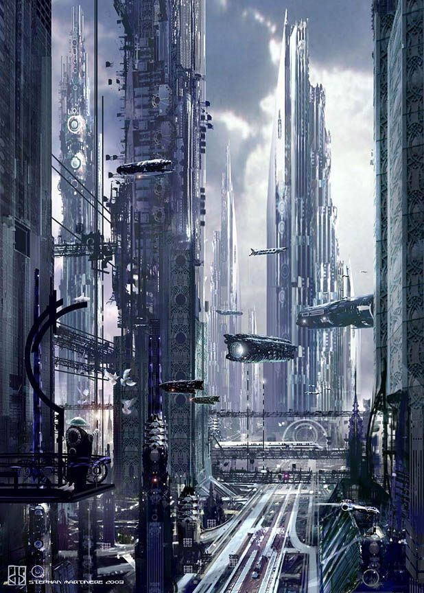 Angel City - Futuristic City Concepts by Stephan Martiniere