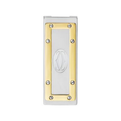Cartier SANTOS DE CARTIER MONEY CLIP Palladium finish, yellow golden finish. $320.