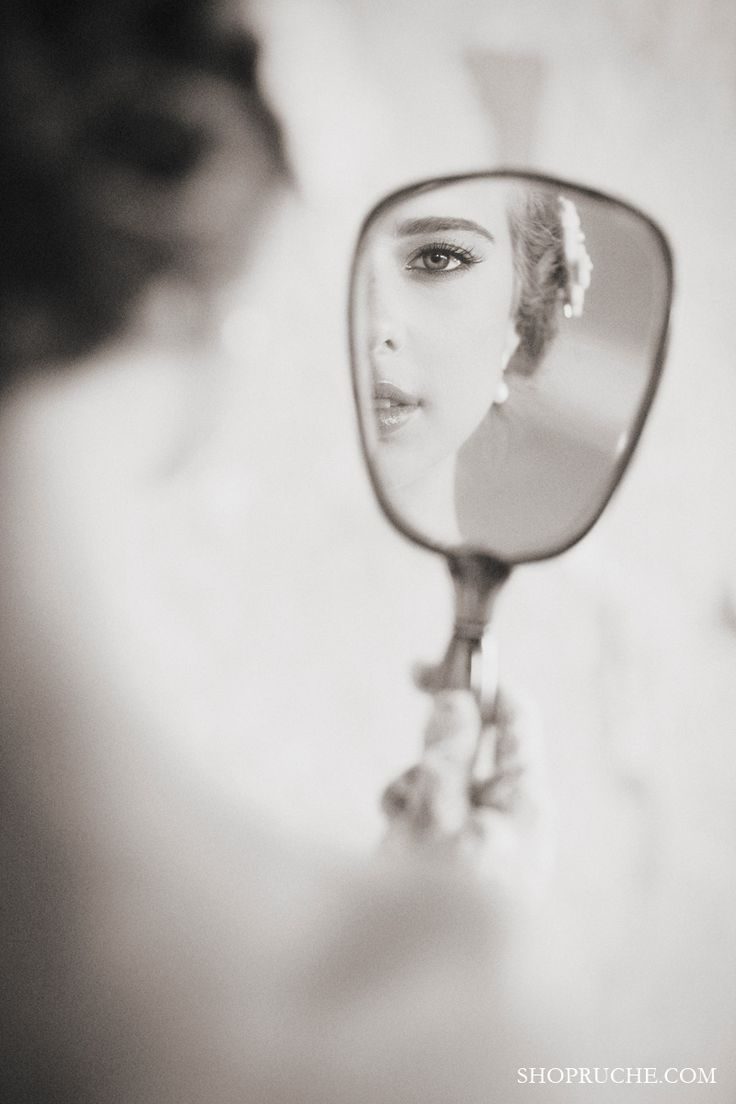 Lovely image of the bride. #dreamwedding #ruchebridal - I have the perfect mirror for this, it was my grandmothers <3