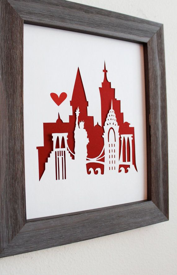 New York New York.  Personalized Gift or Wedding by Cropacature, Ideal for alternate guest book