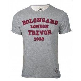 BOLONGARO TREVOR 1832 TEE GREY MARL. Wear it with light denim.