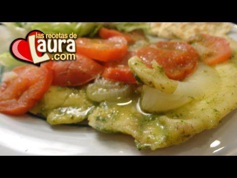 ▶ Filete de Pescado al Cilantro Recetas Light Las Recetas de Laura - YouTube