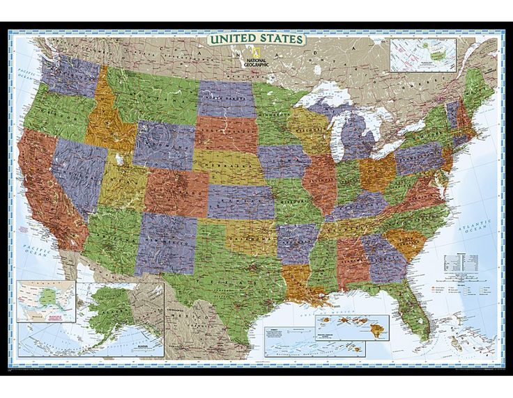 Best US Maps Images On Pinterest Maps Texas And Wall Maps - Large framed us map