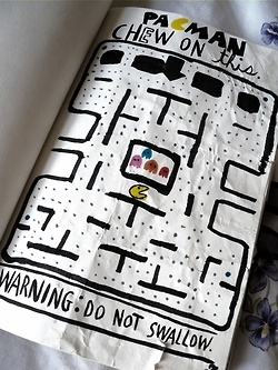 Idk about chewing on it but I'd like to do a pacman page. ;)