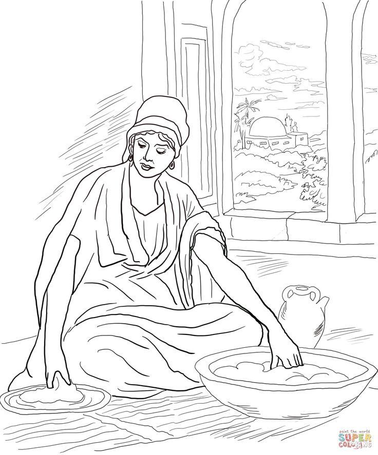 leaven bread coloring pages - photo#3