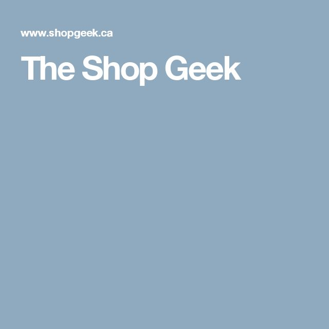 The Shop Geek