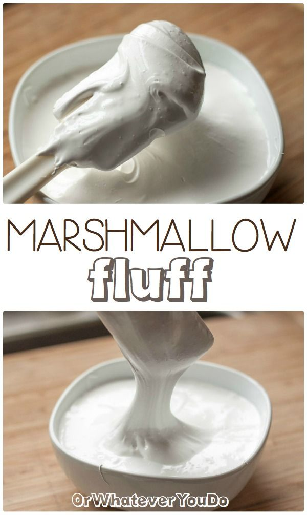 Homemade Marshmallow Fluff! SO good! Food Sweet, Homemade Marshmallows ...