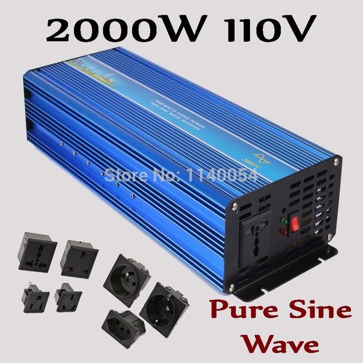 250.08$  Watch now - http://alik8x.worldwells.pw/go.php?t=1742226051 - HOT SALE!! 2000W Off Grid Inverter Pure Sine Wave Inverter DC110V Input Solar Wind Power Inverter 2000W 250.08$