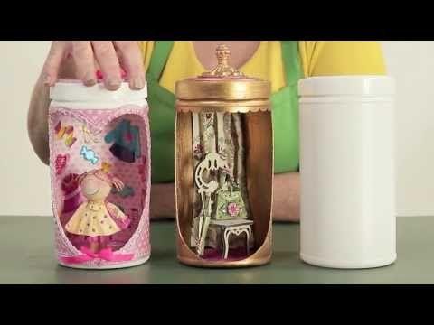 Ambientes em potes plásticos - Reciclar com Arte - YouTube