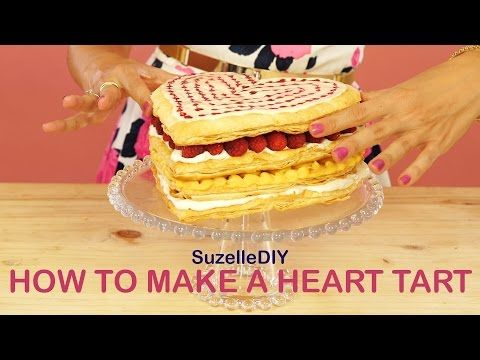 OOPS! Watch perfection become disaster! SuzelleDIY - How to Make a Heart Tart - YouTube