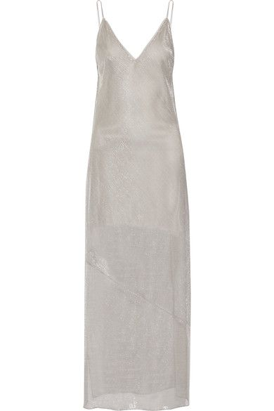 Fleur Du Mal - Metallic Knitted Maxi Dress - Platinum - 3