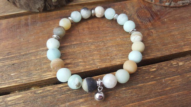 Bracelet mala/ bracelet énergie/ Amazonite mat/ bille acier inoxydable/ bracelet de méditation/fait main/ bracelet breloque/ bracelet boho de la boutique CreationL sur Etsy
