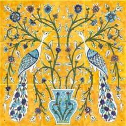 Yellow peacocks