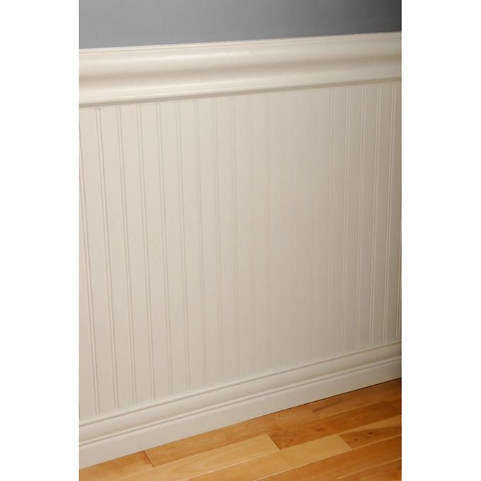 Primed MDF Beaded Wainscot Kit With Chair Rails And