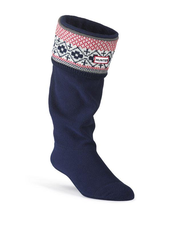 Fair Isle Cuff Welly Socks | Hunter Boot Ltd