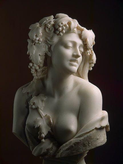 Prosper d'Epinay (1836-1914).  Bacchante.  Marble.  1866.