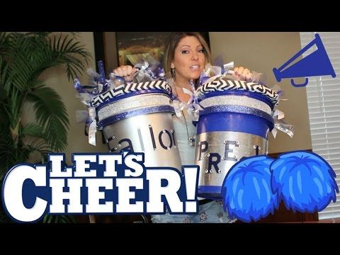 HOW TO MAKE A CHEERLEADER CHEER BUCKET or FLEXIBLE CLASSROOM SEATING  YouTube