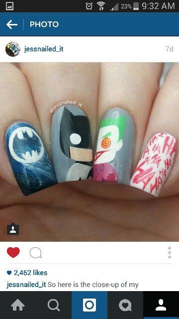 Batman joker nails