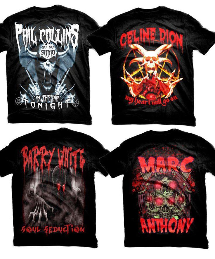 Mademoiselle Robot: Thing of the Week - Mock Metal Tees. I want the Phil Collins one!