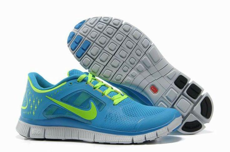 Nike Free 5,0 V6 Damen Schuhe Sale Blau / Grün