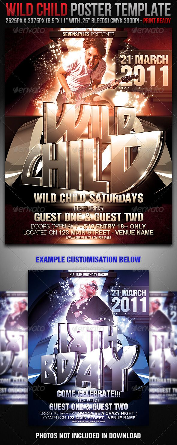 best images about flyer advertising nightclub wildchild poster flyer template