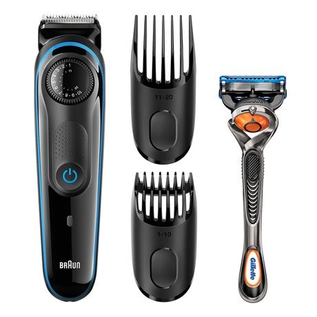 The Braun beard trimmer BT3040 lets you trim your hair to the exact length you select.