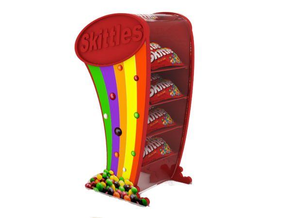 Showcase display for Skittles by Carolina Lozano, via Behance