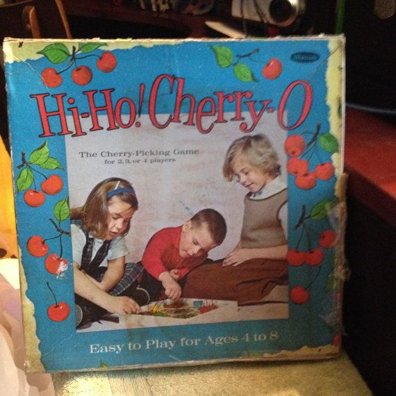 Vintage c. 1960 Hi-Ho Cherry-O board game for by BuyfromGroovy