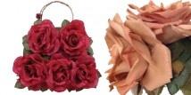 Le borse e i cerchietti di Adalgisa De Angelis si vestono di fiori e fantasie. Un tripudio di camelie, rose e margherite e gerbere.