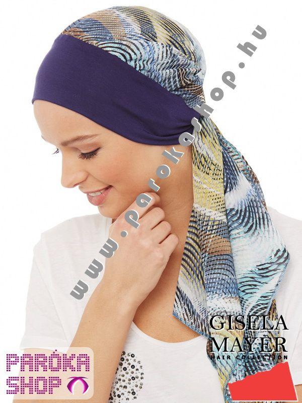 Kemoterápiás turbán, sapka - Annabell Summer - blue  Hosszú sifon kendő bélelt bambusz turbánnalEgyre inkább kerülnek ruházati kiegészítővé a turbánok! Kihagyhatatlan egy-egy darab beszerzése, hiszen a gyártók gyönyörű darabokat dobnak piacra szezonról-szezonra. Így akinek egészségügyi okok miatt válik szükségessé a turbán viselése, gyönyörű, nőies, divatos darabok közül választhat. A paróka váltótársa egy kemoterápiás turbán, sapka.