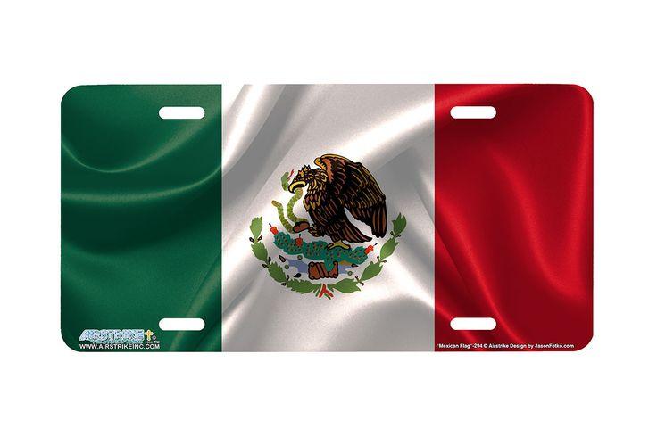 "Airstrike® 294-""Mexican Flag"" Flag License Plates"