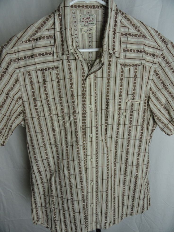 Buy it now free shipping mens lucky brand button down for Lucky brand button down shirts