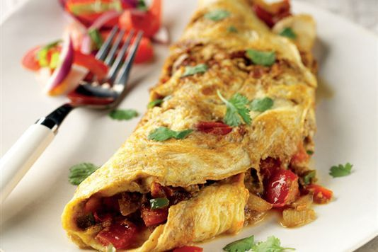 Indian Omelette | Eggs and Cheese | Pinterest