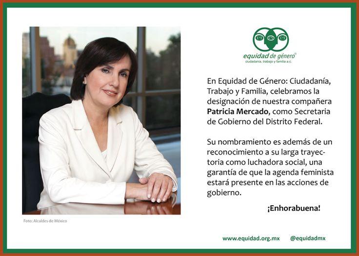 patricia mercado gobierno mexico | ... Patricia Mercado, como Secretaria de Gobierno del Distrito Federal