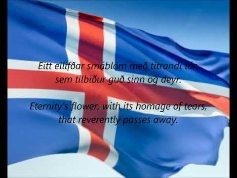 Lofsöngur - iceland national anthem. It's so beautiful i love it!! <3 <3 <3