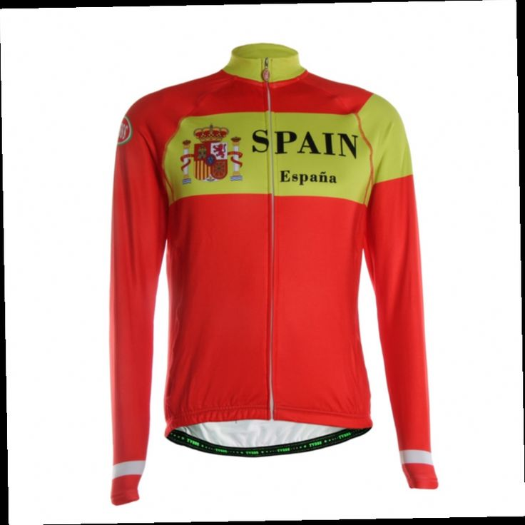 54.69$  Watch here - http://aliatk.worldwells.pw/go.php?t=32751035393 - TVSSS 2016 Men's Winter Bike Customization Of The New Spanish Flag Design Colors Are Particularly Bright Cycling Jersey Jacket