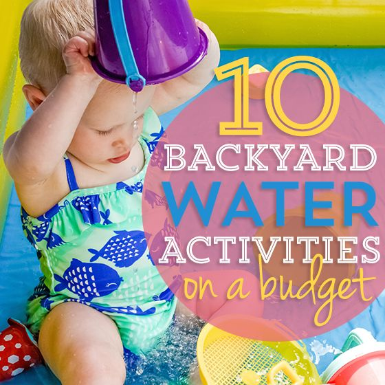 Do you have a free day and want something new and fun to do with your child?  Why not stay at home and enjoy some backyard water fun?  Water play is such a great way to entertain your youngster.  It is a wonderful hands-on experience that can keep them occupied for hours.  Here are 10 fun way
