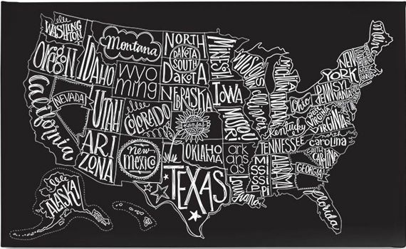 USA... I like that little Hawaii is included in this cool map