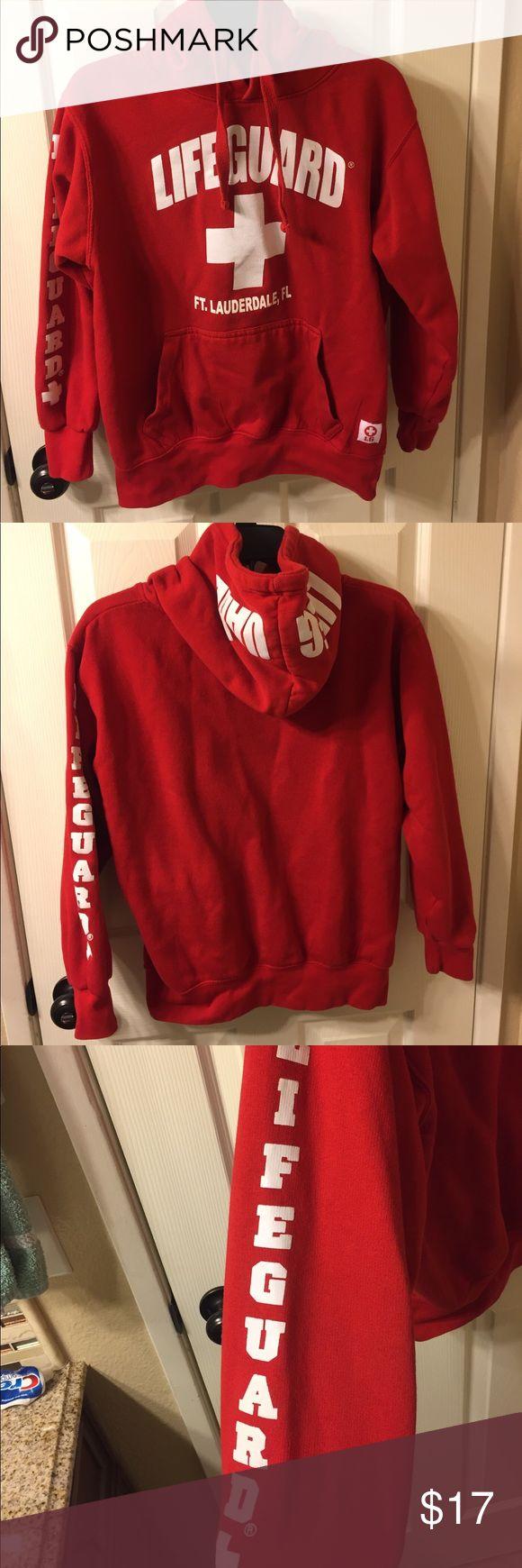 lifeguard hoodie red lifeguard hoodie from ft.lauderdale, FL Tops Sweatshirts & Hoodies