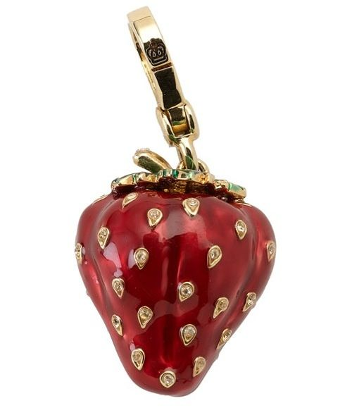 limit edition juicy couture charms | Juicy Couture strawberry-shaped charm